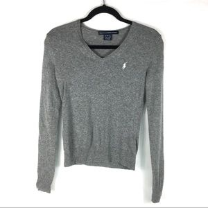 Ralph Lauren Sport V Neck Sweater Women XS